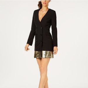 Laundry by Shelli  Segal sequined blazer dress NWT